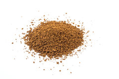 Instant granulated coffee on white background Stock Images