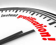 Instant Gratification Clock Fast Immediate Satisfaction Time Stock Images
