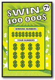 Instant lottery ticket scratch off Royalty Free Stock Image