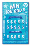 Instant lottery ticket Stock Photo