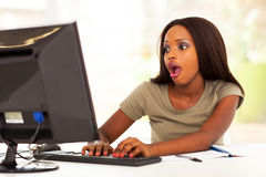 Instant message surprise Stock Photography