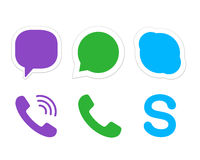 Instant messager icons Stock Images