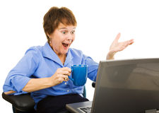 Instant Messaging at Work Royalty Free Stock Photos