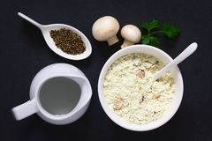 Instant Mushroom Soup Powder Royalty Free Stock Photos
