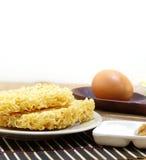 Instant noddle and egg Stock Image