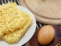 Instant noddle uncooked Stock Photography