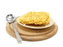 Instant noddle uncooked Royalty Free Stock Image