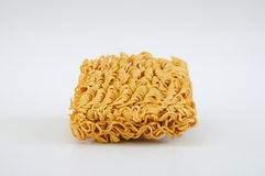 The instant noodle. On the white background Royalty Free Stock Photos