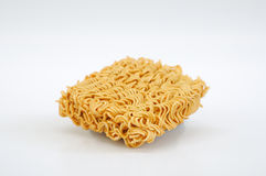 The instant noodle. On the white background Royalty Free Stock Image