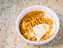Instant noodle in bowl Stock Photos
