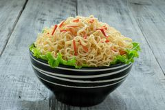 Instant noodle in the bowl Royalty Free Stock Images