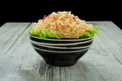 Instant noodle in the bowl Royalty Free Stock Image