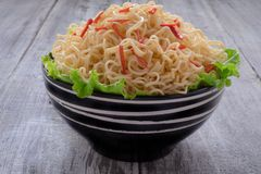 Instant noodle in the bowl Royalty Free Stock Photo