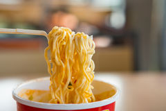 Instant noodle. Is a convenient and delicious food Royalty Free Stock Photos