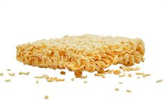 Instant Noodle Cracked Royalty Free Stock Photography