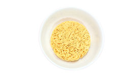 Instant noodle isolated on white Royalty Free Stock Image