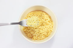 Instant noodle isolated on white Royalty Free Stock Photos
