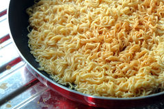 Instant noodle - junk food Royalty Free Stock Photography