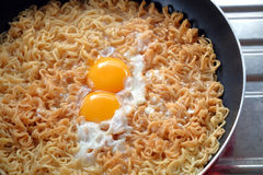 Instant noodle - junk food Stock Photos