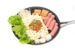 Instant noodle Korean style Stock Photo