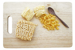 Instant noodle, macaroni, dried noodle isolate on white Stock Image