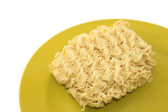 Instant noodle on a plate Royalty Free Stock Photos