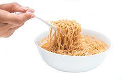 Instant noodle quickly cooking for eat Stock Photo