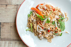 Instant noodle salad Stock Photography
