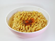 Instant noodle soft boiled in bowl Stock Image