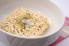 Instant noodle soup Stock Images
