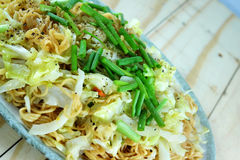 Instant noodle stir with vegetable Stock Photo