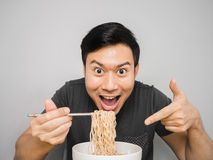 Instant noodle surprisingly delicious. Stock Photos