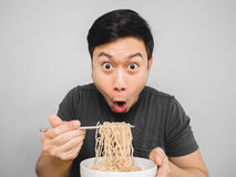 Instant noodle surprisingly delicious. Royalty Free Stock Image