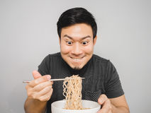 Instant noodle surprisingly delicious. Stock Image