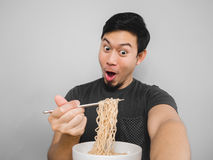 Instant noodle surprisingly delicious. Stock Photo