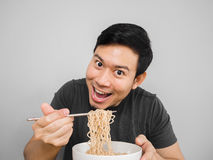 Instant noodle surprisingly delicious. Stock Images