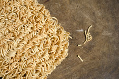 Instant noodle(from top) Royalty Free Stock Image