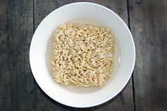 Instant Noodle In Top View stock photography