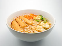 Instant noodle on white background. Royalty Free Stock Photos