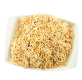 Instant noodles in bow Stock Image