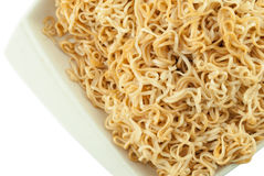 Instant noodles in bowl Royalty Free Stock Image