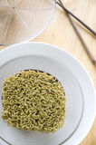 Instant noodles in bowl Stock Photos