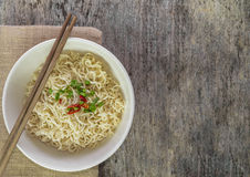 Instant noodles in bowl. Royalty Free Stock Images
