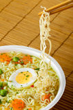 Instant noodles with chopsticks Royalty Free Stock Photography