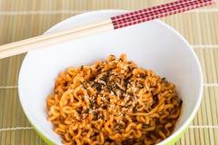 Instant noodles Stock Image