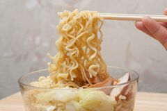 Instant noodles. Royalty Free Stock Image