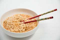 Instant noodles in dish Royalty Free Stock Photography