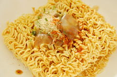 Instant noodles dressing seasoning powder prepare to cook Stock Photography