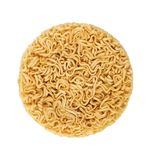 Instant noodles on white. Instant noodles dry on a white background stock images