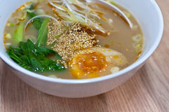 Instant noodles egg Royalty Free Stock Photo